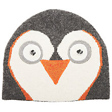 Buy John Lewis Penguin Beanie Hat, Grey Online at johnlewis.com