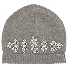 Buy John Lewis Jewelled Beanie Hat, Grey Online at johnlewis.com