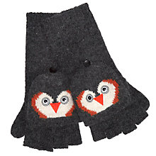 Buy John Lewis Penguin Trapper Gloves, Grey Online at johnlewis.com