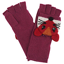 Buy John Lewis Fox Trapper Gloves, Pink Online at johnlewis.com