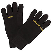 Buy John Lewis Five Gold Rings Gloves, Black Online at johnlewis.com