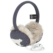 Buy John Lewis Polar Bear Tech Hearmuffs, Grey Online at johnlewis.com