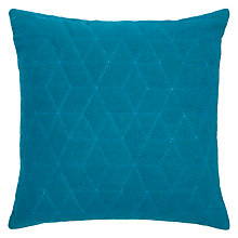 Buy John Lewis Hex Cushion, Teal Online at johnlewis.com