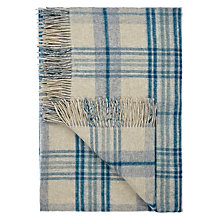 Buy John Lewis Croft Collection Heritage Throw, Blue Online at johnlewis.com