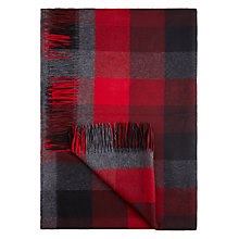 Buy Moon Red Block Check Throw Online at johnlewis.com