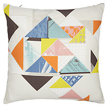 Buy John Lewis Collage Triangles Cushion Online at johnlewis.com