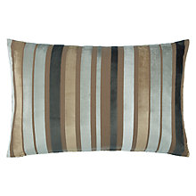 Buy John Lewis Mizan Stripe Cushion, Grey/Putty Online at johnlewis.com