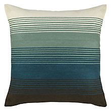 Buy John Lewis Crewel Shades Cushion, Steel / Blue Online at johnlewis.com