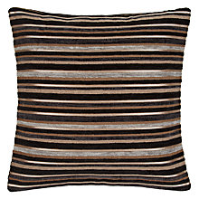 Buy John Lewis Gilded Stripe Cushion, Black Online at johnlewis.com