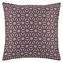Buy John Lewis Starburst Cushion, Cassis Online at johnlewis.com