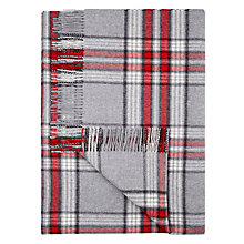 Buy Moon Red Block Red / Grey Check Throw Online at johnlewis.com