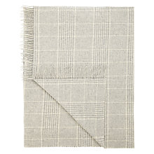 Buy John Lewis Croft Collection Houndstooth Throw, Grey Online at johnlewis.com