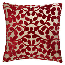 Buy John Lewis Velvet Leaf Cushion Online at johnlewis.com