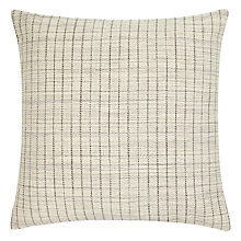 Buy John Lewis Textured Check Cushion, Natural Online at johnlewis.com