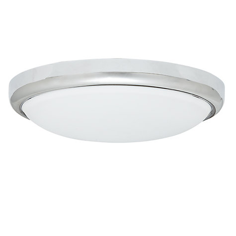 Buy Saxby Gio LED Chrome Flush Ceiling Light Online at johnlewis.com
