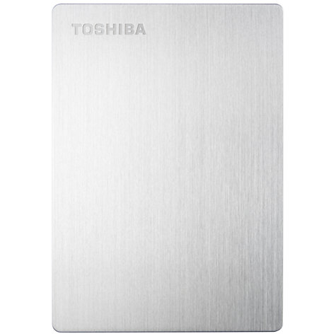 "Buy Toshiba Stor.E Slim 2.5"" Portable Hard Drive, USB 3.0, 1TB, Silver Online at johnlewis.com"
