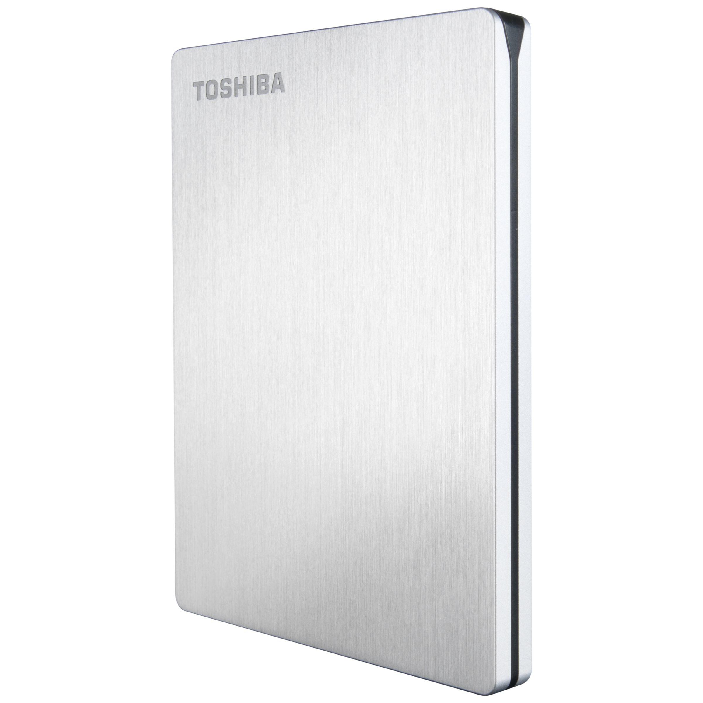 Toshiba Toshiba Slim Portable Hard Drive, USB 3.0, 1TB, Silver