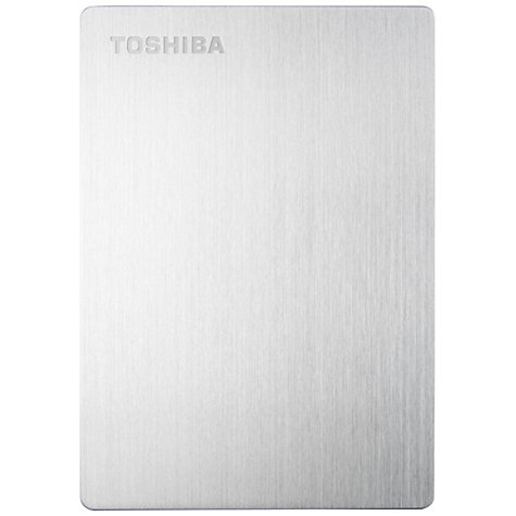 Buy Toshiba Canvio Slim for Mac, Portable Hard Drive, USB 3.0, 1TB, Silver Online at johnlewis.com