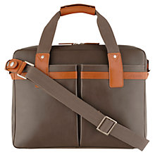 Buy Hidesign Ryder Leather Carrier Bag, Brown Online at johnlewis.com