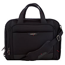 "Buy Samsonite Pro-DLX4 16"" Laptop Bailhandle Expandable Work Bag, Black Online at johnlewis.com"