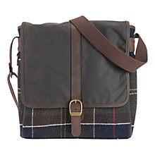 Buy Barbour Classic Tartan Mail Bag, Brown Online at johnlewis.com