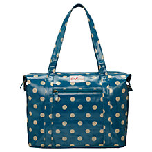 Buy Cath Kidston Button Spot Shoulder Bag, Deep Blue Online at johnlewis.com
