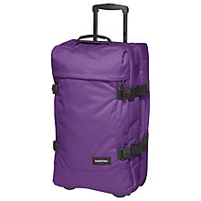 Buy Eastpak Tranverz Medium 2-Wheel Holdall, Purpleton Online at johnlewis.com