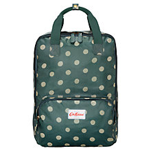 Buy Cath Kidston Button Spot Backpack, Forest Green Online at johnlewis.com