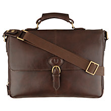 Buy Hidesign Parker Leather Briefcase, Brown Online at johnlewis.com