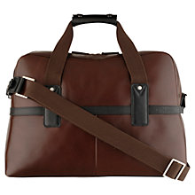 Buy Hidesign Ryder Leather Holdall, Brown Online at johnlewis.com