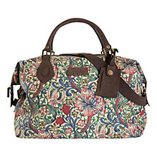 Buy Barbour Morris Floral Print Explorer Holdall, Golden Lily Online at johnlewis.com