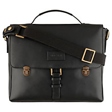 Buy Hidesign Luis Leather Briefcase, Black Online at johnlewis.com