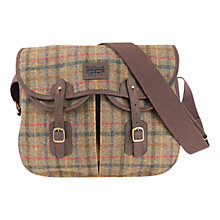 Buy Barbour Morar Tartan Wool Bag, Olive Online at johnlewis.com