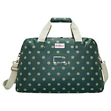 Buy Cath Kidston Button Spot Travel Bag, Forest Green Online at johnlewis.com