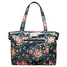 Buy Cath Kidston Folk Flowers Zip Shoulder Bag, Midnight Online at johnlewis.com
