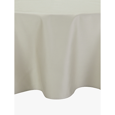 John Lewis Mezzo Tablecloth Dia.180cm, Natural