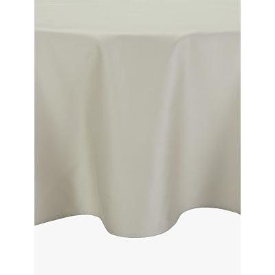 John Lewis Mezzo Tablecloth Dia.180cm, Natural