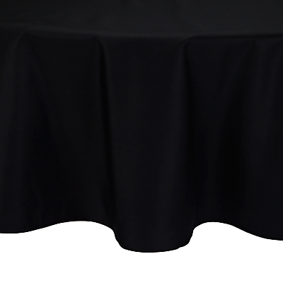 John Lewis Mezzo Tablecloth, Dia.180cm, Black