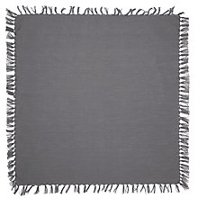Buy John Lewis Croft Collection Tassel Napkin, Grey Online at johnlewis.com