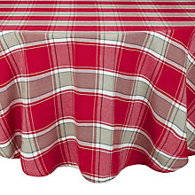 Buy John Lewis Tartan Round Tablecloth, Dia.180cm Online at johnlewis.com