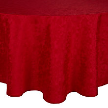 Buy John Lewis Pemberley Damask Round Tablecloth, Dia.180cm, Red Online at johnlewis.com