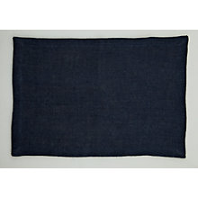 Buy John Lewis Hoxton Placemats, Set of 2, Petrol Blue Online at johnlewis.com