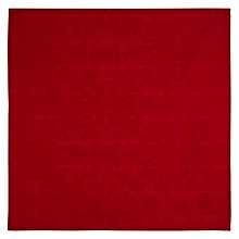 Buy John Lewis Pemberley Damask Napkins, Set of 4, Red Online at johnlewis.com