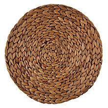 Buy John Lewis Water Hyacinth Round Placemats, Set of 6 Online at johnlewis.com