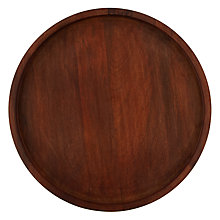 Buy Havana Round Tray Dark Wood Online at johnlewis.com