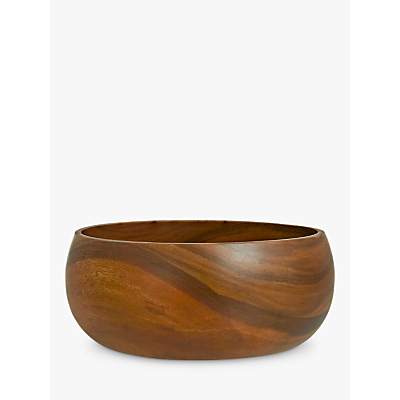 John Lewis Dark Acacia Salad Bowl, Large