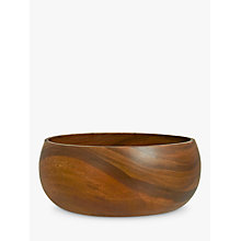 Buy John Lewis Dark Acacia Salad Bowl, Large Online at johnlewis.com