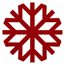 Buy House by John Lewis Snowflake Coasters, Set of 4, Red Online at johnlewis.com