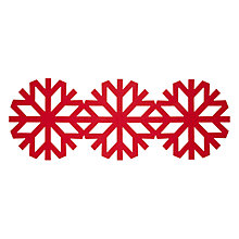 Buy House by John Lewis Snowflake Runner, Red Online at johnlewis.com