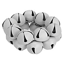 Buy John Lewis Bells Napkin Rings, Set of 4, White Online at johnlewis.com